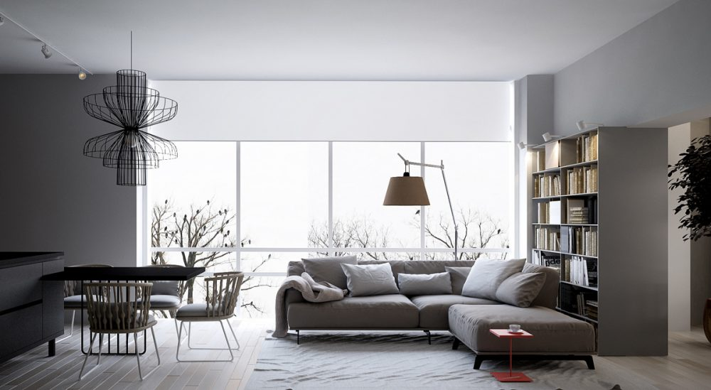 single-red-accent-in-greyscale-interior